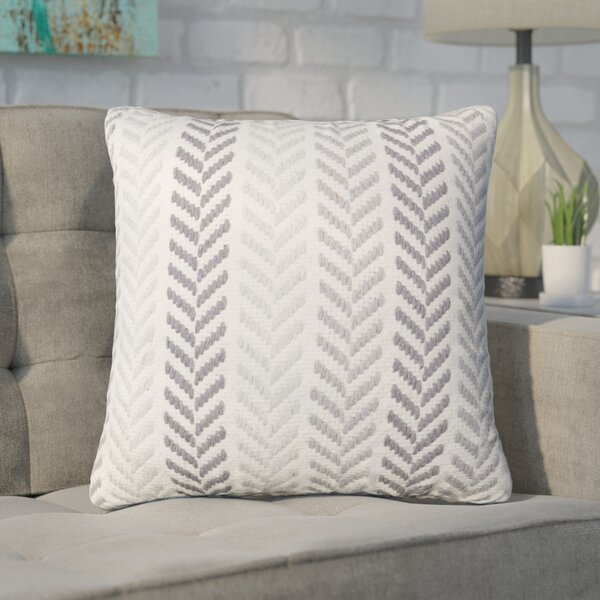 Chevron 100% Cotton Throw Pillow by Mercury Row